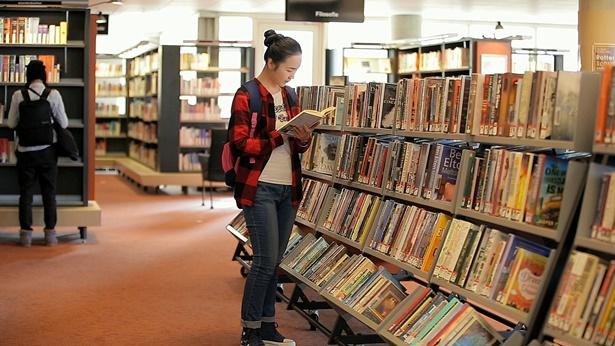 图书馆,浏览书籍,读书