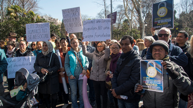 人权游行,关注难民