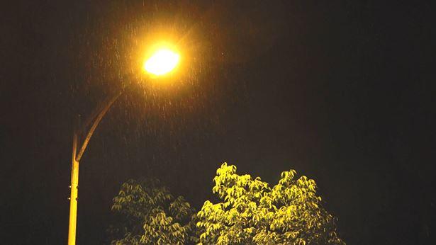 下雨的晚上